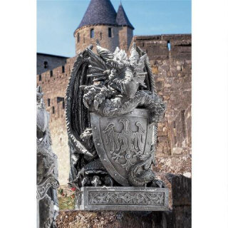 Arthurian Shield Dragon Statue 17½