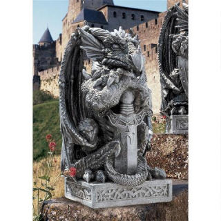 Arthurian Sword Dragon Statue 17½