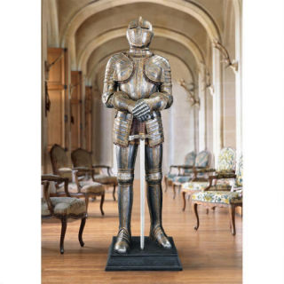 Knight Life Size Medieval Armor Statue Sword