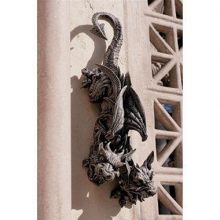Double Trouble Wall Hanging Gargoyle Statue