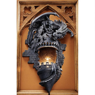Dragon's Castle Lair Wall Sconce Light