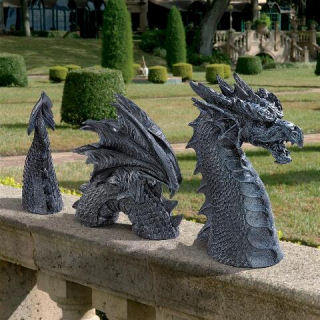 Dragon Castle Moat Lawn Statue Three Parts