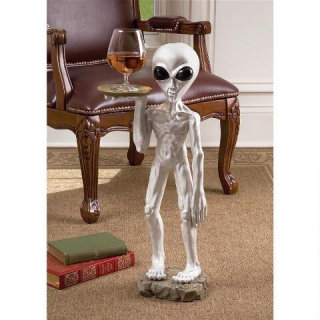 Alien Butler Pedestal Table Sculpture