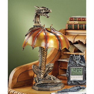 Dragon Strike Illuminated Lamp Sculpture