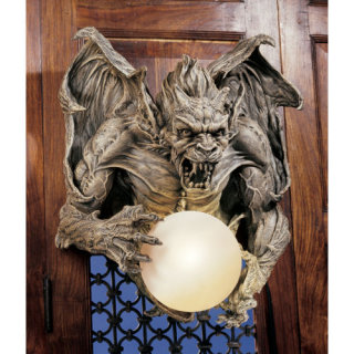 Merciless Gargoyle Lighted Wall Sculpture set of Two