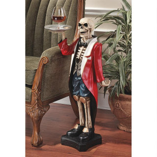 Bones the English Butler Pedestal Table