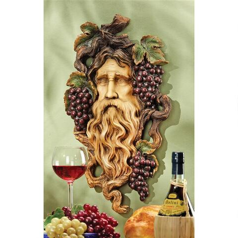 God Of The Grape Harvest Wall Sculpture