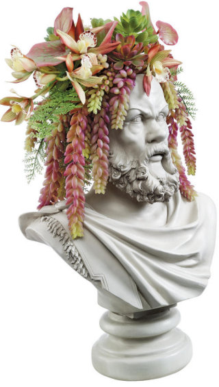 Philosopher Socrates Bust Planter Sculpture