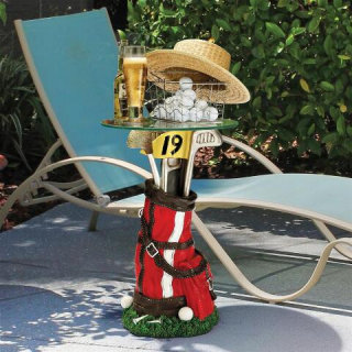 Golf Bag Sculptural Glass-Topped Table