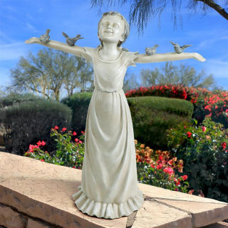 Children Sculpture Statues Statuary In Cast Stone And Resin For Sale