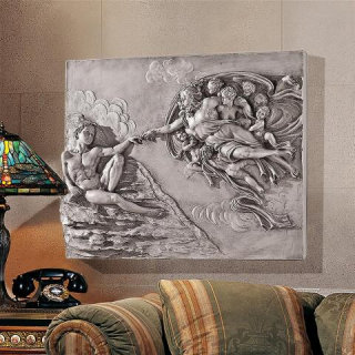 Creation Of Adam Sculptural Wall Frieze