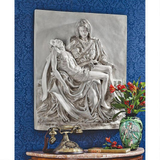 Pieta Sculptural Wall Frieze
