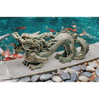 Asian Dragon Garden Sculpture