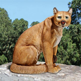 American Mountain Cougar Lion Statue