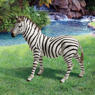 Zebra Garden Sculpture