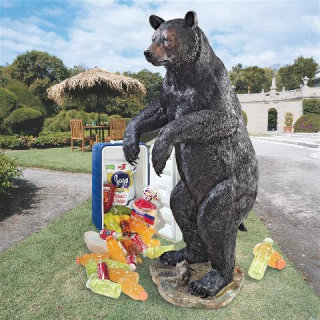 Fishing For Trouble Bear Statue Life-Size