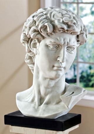David Bust by Michelangelo Large Statue
