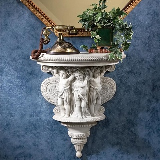 Cherubs Of The Wine Harvest Wall Bracket