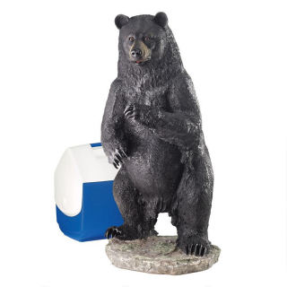 Fishing For Trouble Bear Statue Large