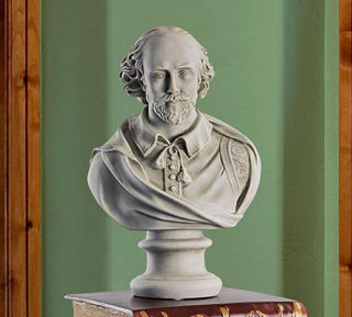 William Shakespeare Sculpture Bust 18