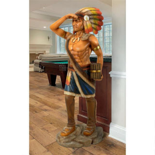 Life Size Cigar Store Indian Tobacconist Statue