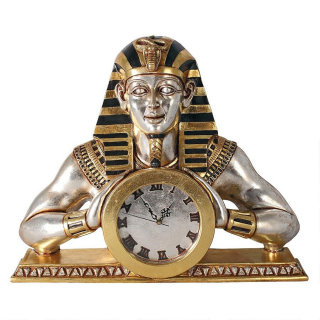 Temple Of Heliopolis Mantle Clock Egyptian