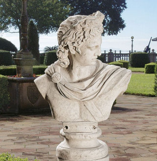 Apollo Belvedere Sculptural Bust 32.5