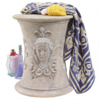 Flora Goddess Of Spring French Spa Stool