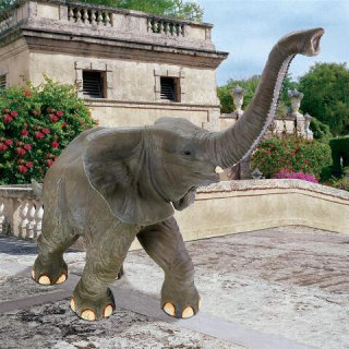 Good Luck Trunk-up Baby Elephant Statue