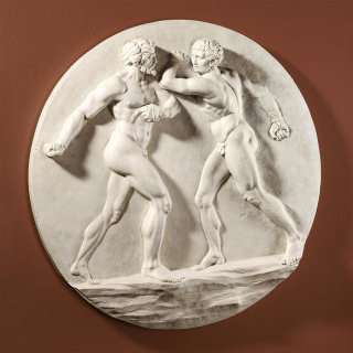 Pugilatus Wall Frieze Boxing Sculpture
