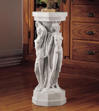 Column Of The Maenads Sculpture Pedestal