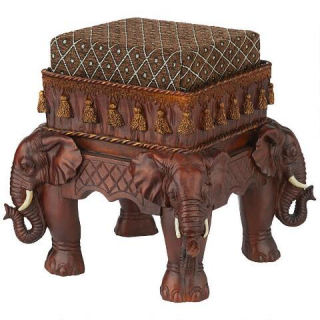 Maharajah's Elephants Sculptural Footstool