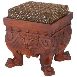 Greenman Sculptural Footstool