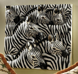 Parade Of Stripes Zebras Wall Frieze