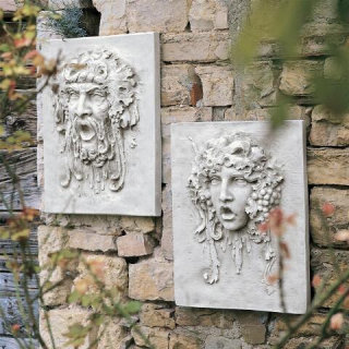 Opimus And Vappa Wall Frieze Set Plaques