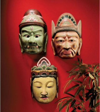 Processional Masks Of The Devas Wall Sculpture