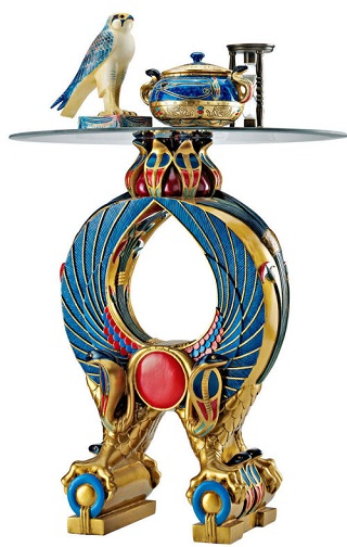 Horus Wings Egyptian Altar Side Table