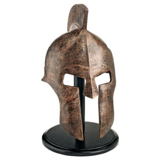 Greek Spartan Helmet Sculpture