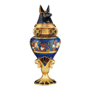Grand Anubis Lidded Urn Statue