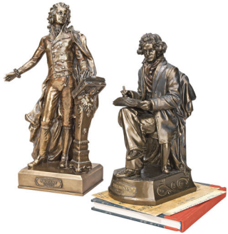 Beethoven & Mozart Sculptures Set