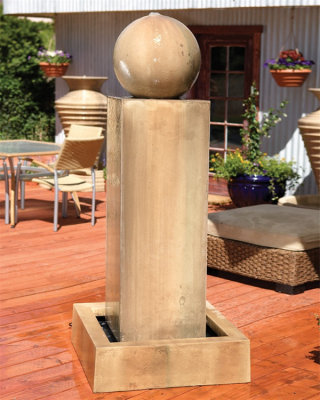 Monolith Fountain With Ball 73