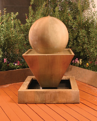 Oblique Fountain With Ball 42