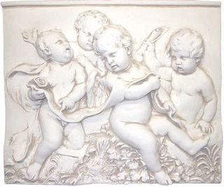 Grupo Putti Cherubs Plaque