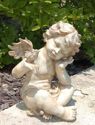 Wing Cherub With Bird