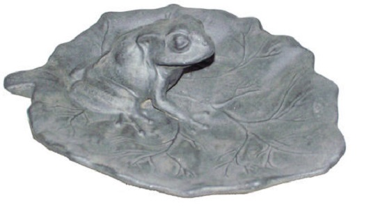 Frog Bird Bath Sculpture
