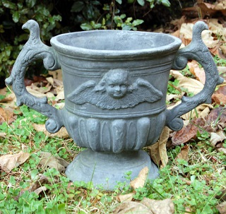 Hen Feathers Cherub Pot 19