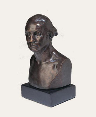 George Washington Bust by Sculptor Houdon Statue