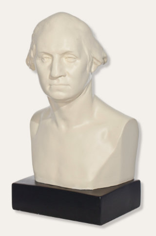 George Washington Bust by Sculptor Houdon Sculpture