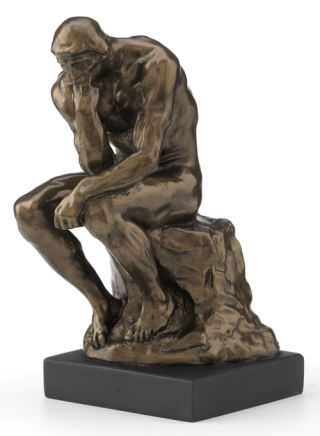 Thinker By Rodin Sculpture 6