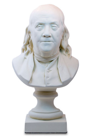 Benjamin Franklin Bust By Houdon Statue
